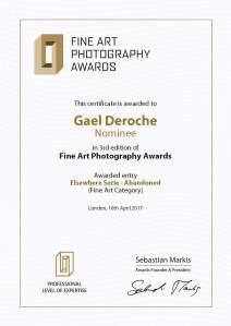 Photographe auteur Paris, Gael Deroche, photograpie d'art contemporain exposition